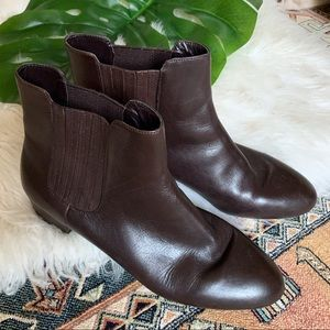 Marc Fisher Brown Leather Ankle Boots - 10